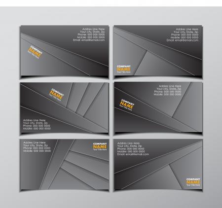 set of six visit cards