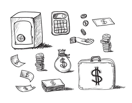 hoard: hand drawn business icons