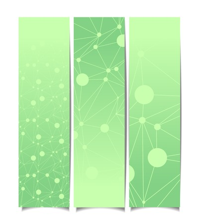 Set of abstract banners. Illustration