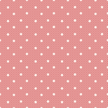 pink dotted lacy seamless pattern Illustration