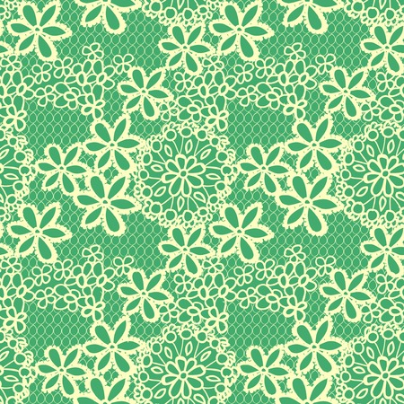 Flower lacy seamless background Vector