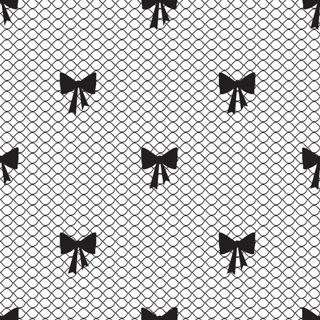 Vintage lace background, small bows Illustration