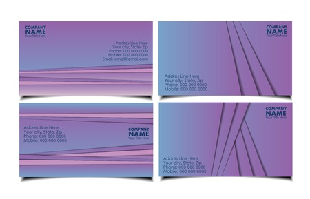 Vector abstract creative business cards, geometric design, violrt colours.