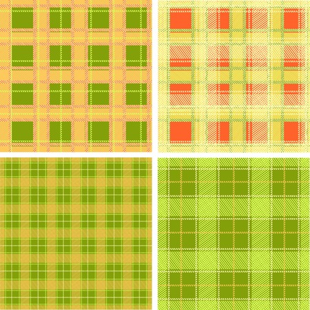 fabric pattern, set of four seamless  Vector