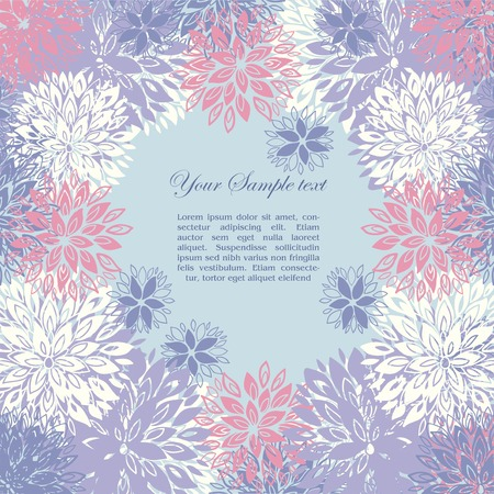 floral background and place for your text Vector