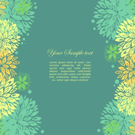 floral background and place for  text