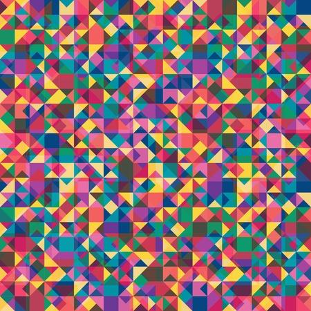Retro pattern of geometric shapes, vector illustration Illustration