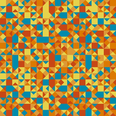 parallelepiped: Retro pattern of geometric shapes, vector illustration Illustration