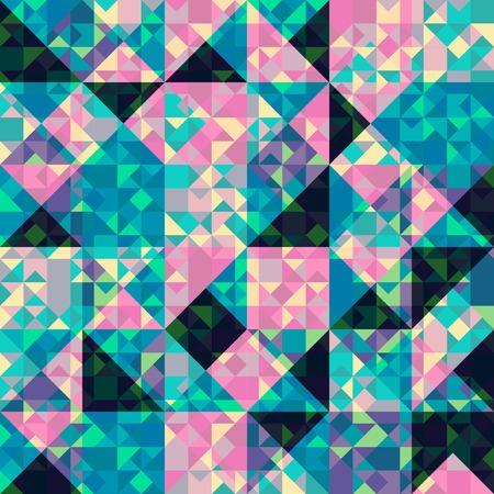 Retro pattern of geometric shapes, vector illustration Vector
