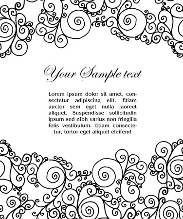 vector abtract black and white border and place for your text Vector