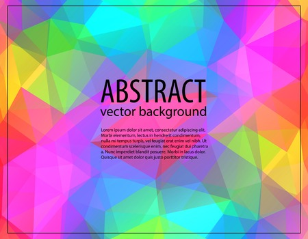 Geometric hipster retro background with place for your text. Retro triangle background