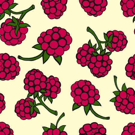 drupe: Seamless pattern  of berries Illustration