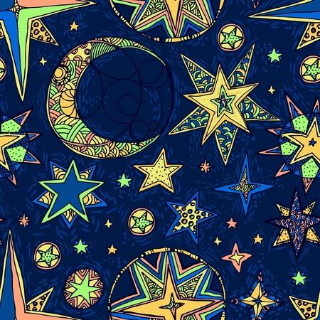 cielo estrellado: fantas�a cielo estrellado Vectores
