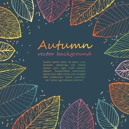 bordering: Marco de la frontera de las hojas de oto�o de colores