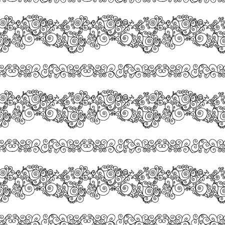 deluxe: black swirls on a white background