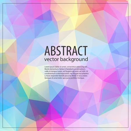 Geometric triangular light background with place for your text. Retro triangle background