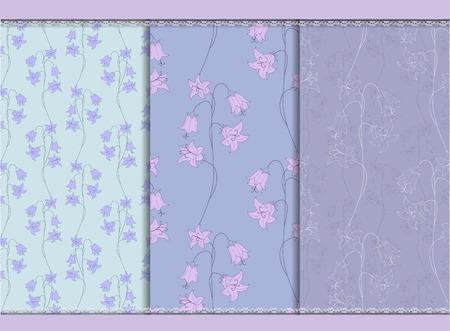 bellflower: Bellflower seamless background