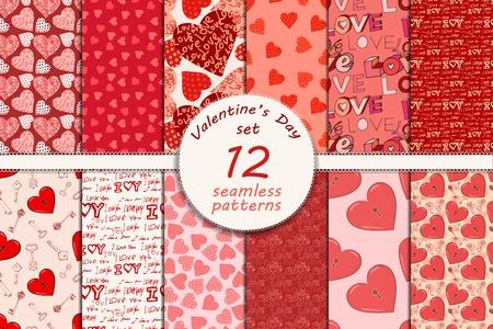 love card: D�a de San Valent�n sin fisuras patr�n Vectores