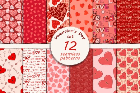 love cute: valentines day seamless pattern