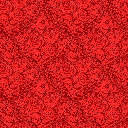 seamless pattern with hearts made of red rose Vector