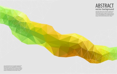 Abstract yellow geometric background. Triangular vector illustration Vector