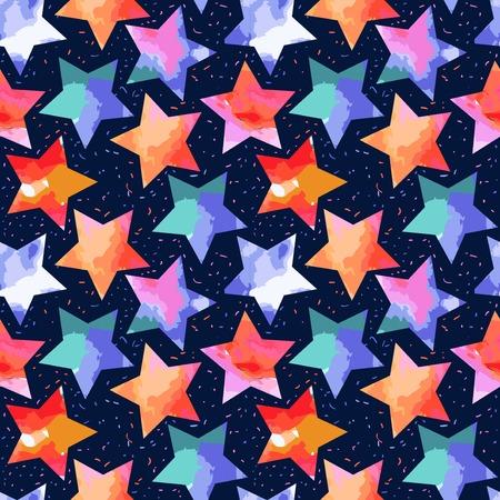 abstract grunge stars Illustration