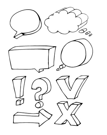 Blank empty white speech bubbles Vector