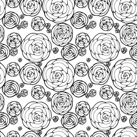 갈색 레이스 원활한 꽃 패턴, 빈티지 illusration입니다