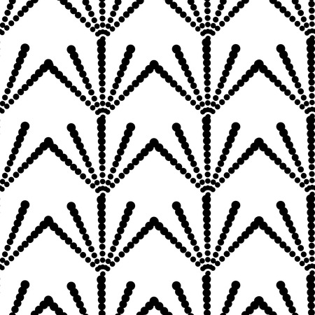 Seamless background, geometric black and white pattern Illustration