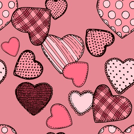 seamless pattern with hearts Иллюстрация