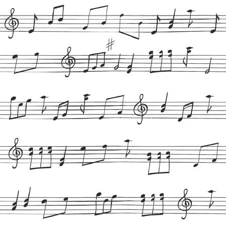 Muziek Naadloze Achtergrond Stock Illustratie