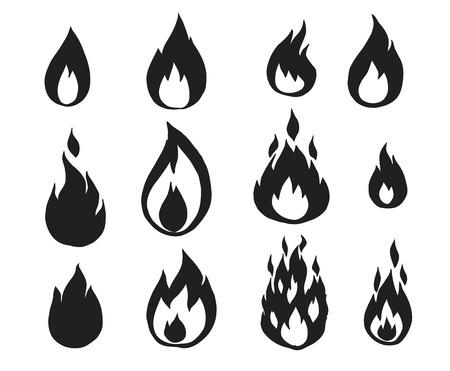 fuoco e fiamme: Fiamme del fuoco, Vettoriali