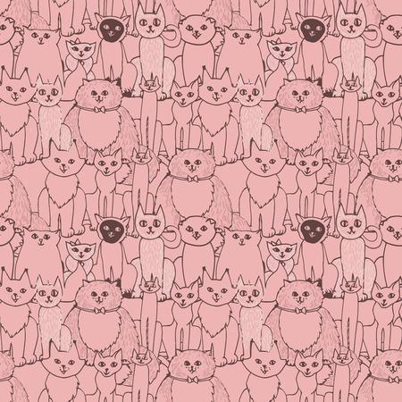 Sin patrón con los gatos Foto de archivo - 35823155