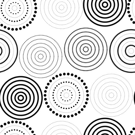 decoration style: Abstract seamless background made of rings