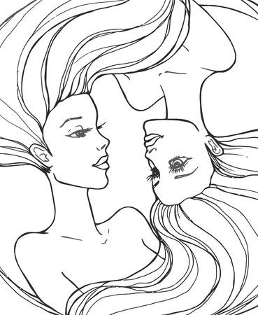 dark complexion: Two beautiful young women