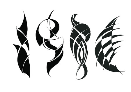 arms: Tattoo for arms and shoulders. Illustration