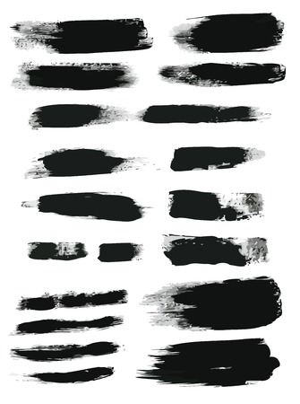 black dye: brush strokes