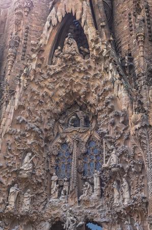 deatil: Sagrada Familia in Barcelona Spain, deatil outdoor Editorial