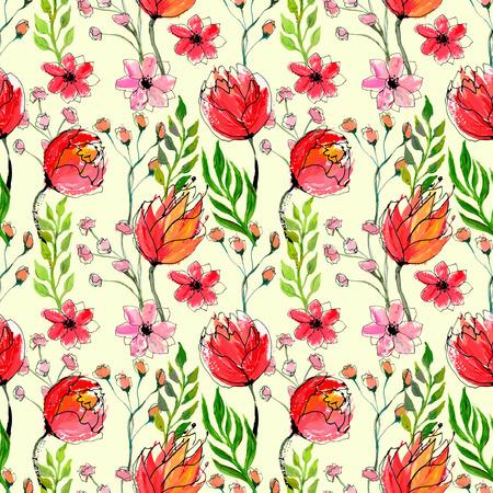 Patr?n floral sin fisuras Foto de archivo - 39573384