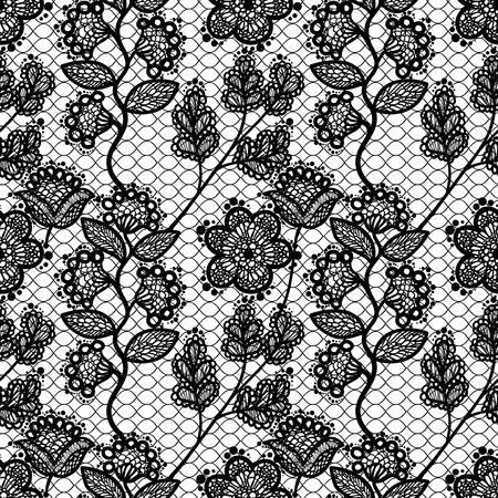 baroque background: seamless lace pattern Illustration