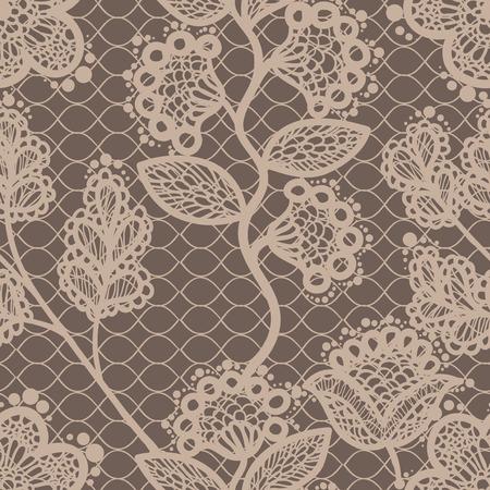seamless lace pattern Çizim