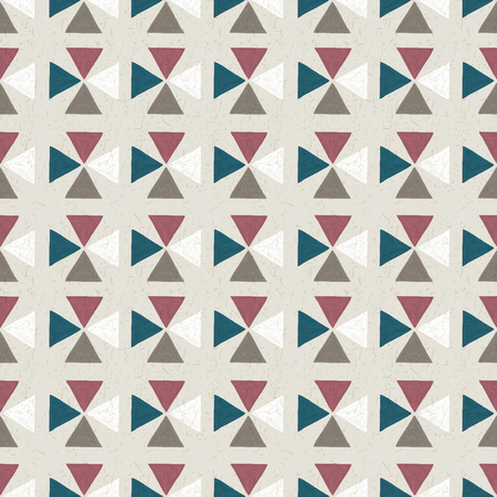 trendy tissue: seamless hand drawn geometric pattern