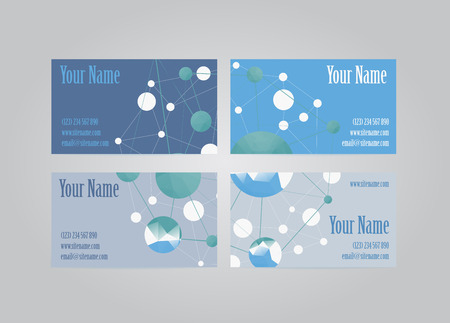 visit: Set of six visit cards