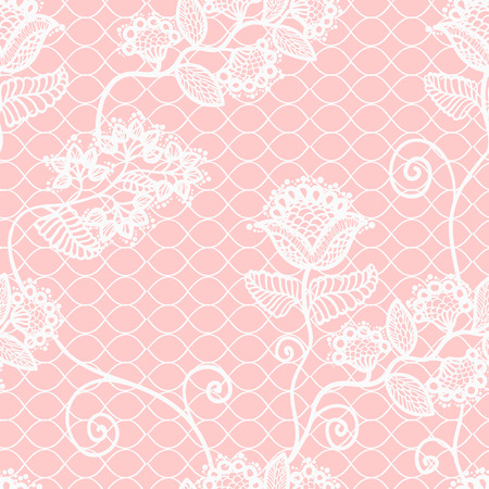 tights: seamless beautiful floral lace pattern, vintage background