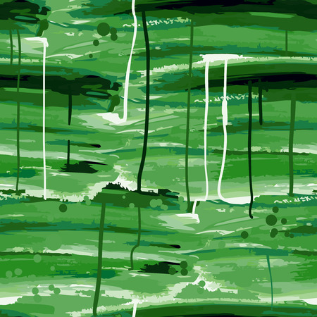 smeared: Grunge seamless background smeared green paint. Vector illustration.
