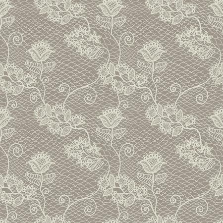 Naadloze bloemen kant patroon, uitstekende achtergrond