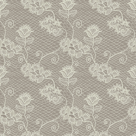 Seamless floral lace pattern, vintage background