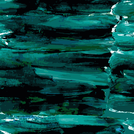 smeared: Grunge seamless background smeared blue-green paint. Vector illustration.
