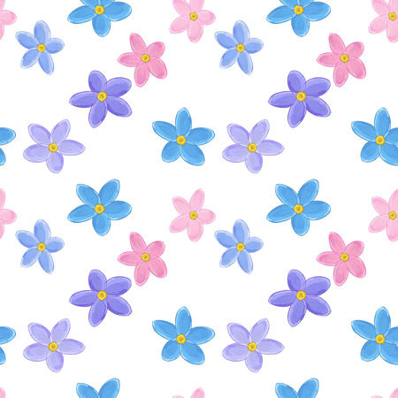 forget: Stylish floral seamless pattern with forget-me-not. Forget me not flowers. Digital paper Illustration