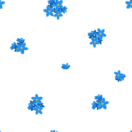 me: Stylish floral seamless pattern with forget-me-not. Forget me not flowers. Illustration